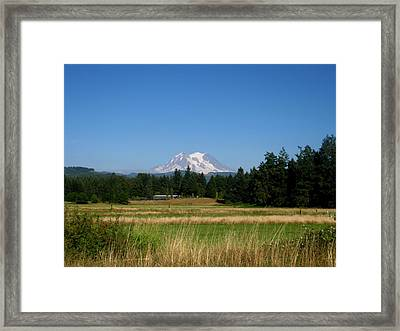 Mount Rainier 8 Framed Print by Kathy Long
