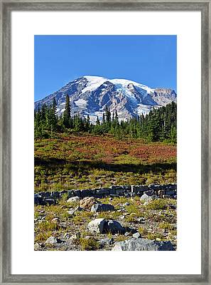 Framed Print featuring the photograph Mount Rainier by Anthony Baatz