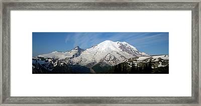 Framed Print featuring the photograph Mount Rainier From Sunrise by Bob Noble Photography
