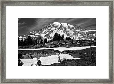 Mount Rainier From The Paradise Visitor Center Framed Print by Bob Noble