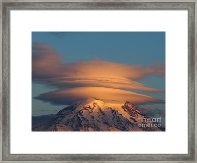 Mount Rainier In November  Framed Print