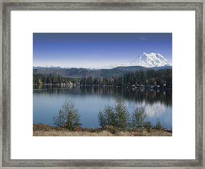 Mount Rainier In The Fall Framed Print