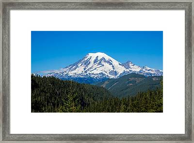 Mount Rainier Framed Print by John M Bailey