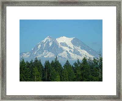 Mount Rainier Framed Print by Kathy Long