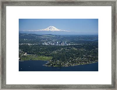 Mount Rainier, Lake Washington Framed Print