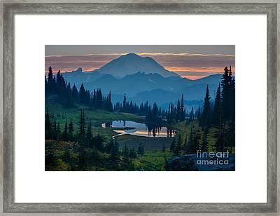 Mount Rainier Layers Framed Print