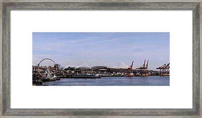 Mount Rainier Seattle Waterfront Framed Print