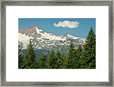 Mount Rainier, Snow Covered, Road Framed Print