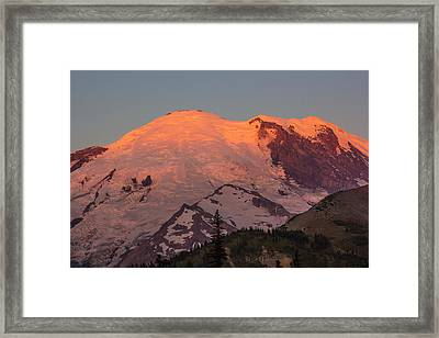 Mount Rainier Sunrise Framed Print by Bob Noble Photography