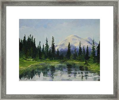 Picnic By The Lake Framed Print