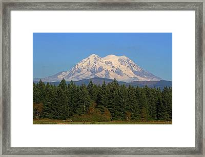 Framed Print featuring the photograph Mount Rainier Washington by Tom Janca