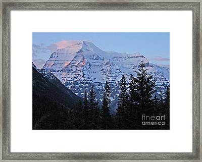 Mount Robson At Sundown - Canada Framed Print by Phil Banks