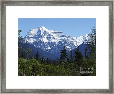 Mount Robson - Canada Framed Print by Phil Banks