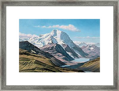 Mount Robson From The Air    Framed Print by Paul Krapf