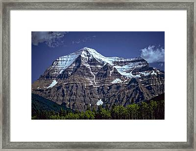 Framed Print featuring the photograph Mount Robson by Richard Farrington
