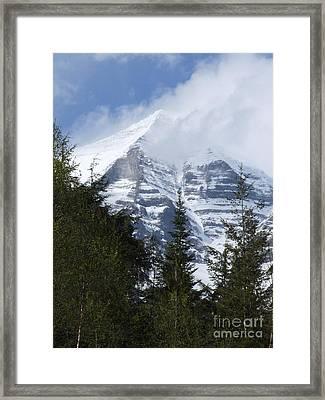 Mount Robson - Spindrift Framed Print by Phil Banks