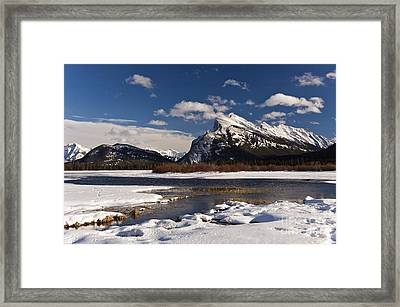 Mount Rundle Framed Print