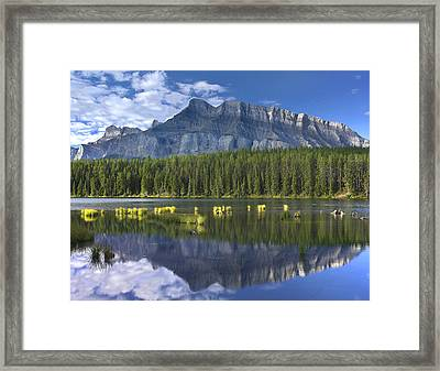 Mount Rundle Reflection Banff Np Framed Print by Tim Fitzharris