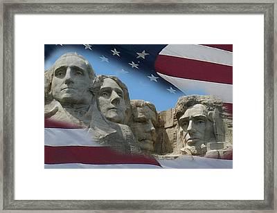 Mount Rushmore 1 Framed Print by Ernie Echols