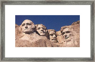 Mount Rushmore American Presidents Framed Print
