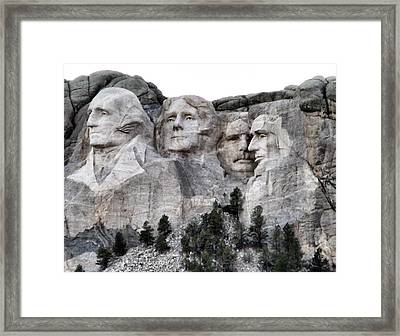 Mount Rushmore National Memorial Framed Print by Patricia Januszkiewicz