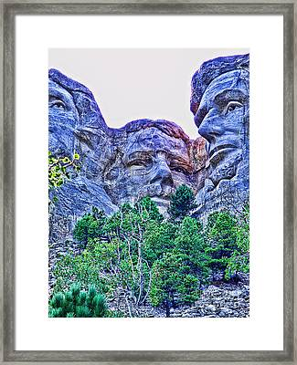 Mount Rushmore Roosevelt Framed Print by Tommy Anderson