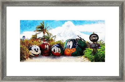 Mount Rustmore Castaway Cay Framed Print by Sandy MacGowan