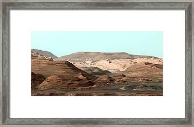 Mount Sharp Framed Print by Nasa/jpl-caltech/msss