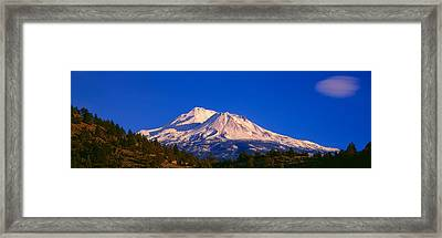 Mount Shasta At Sunrise, California Framed Print by Panoramic Images