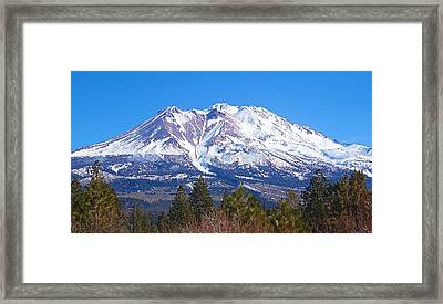 Mount Shasta California February 2013 Framed Print by Michael Rogers