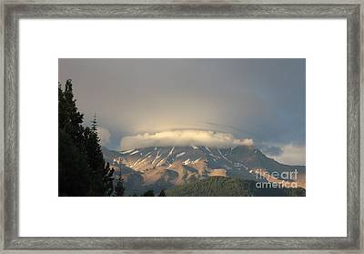 Mount Shasta - Icing On The Cake Framed Print