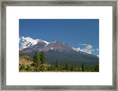 Mount Shasta North Facing Side Located Framed Print by David R. Frazier
