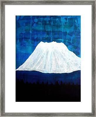 Mount Shasta Original Painting Framed Print by Sol Luckman