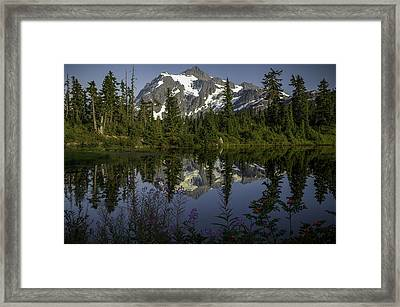 Mount Shuksan Framed Print by Jean-Jacques Thebault