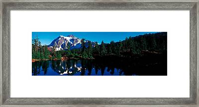 Mount Shuksan North Cascades National Framed Print by Panoramic Images
