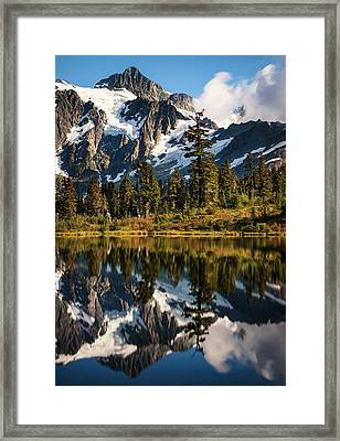 Mount Shuksan Reflections Framed Print by Alexis Birkill