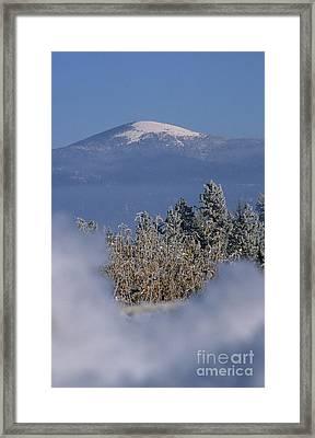 Mount Spokane Framed Print by Sharon Elliott