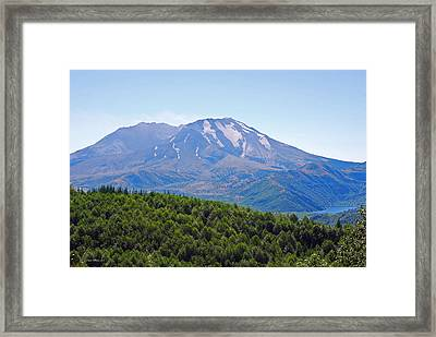 Mount St. Helens And Castle Lake In August Framed Print