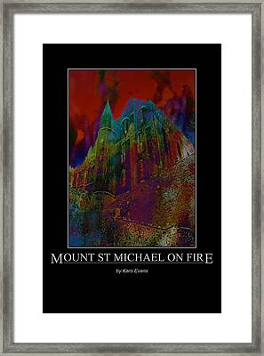 Mount St Michael On Fire Framed Print