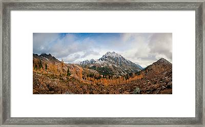 Framed Print featuring the photograph Mount Stuart Panorama by Brian Bonham