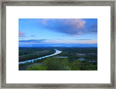 Mount Sugarloaf Connecticut River Spring Evening Framed Print by John Burk