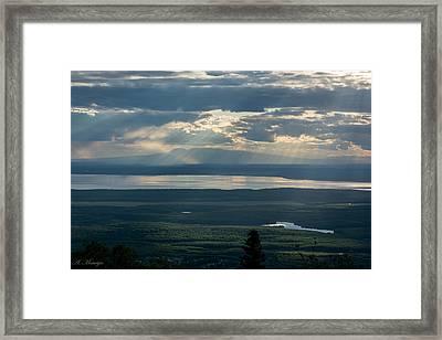 Mount Susitna Framed Print by Andrew Matwijec