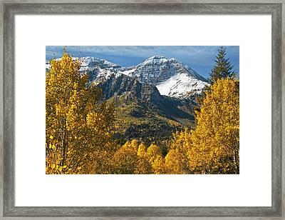 Mount Timpangos Framed Print by Utah Images