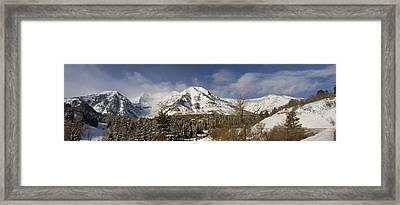 Mount Timpanogos Panorama Framed Print by Scott Pellegrin