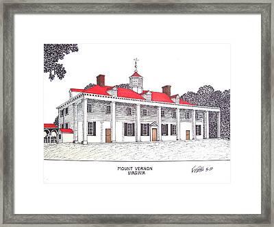 Mount Vernon Framed Print by Frederic Kohli