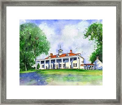 Mount Vernon Front Framed Print