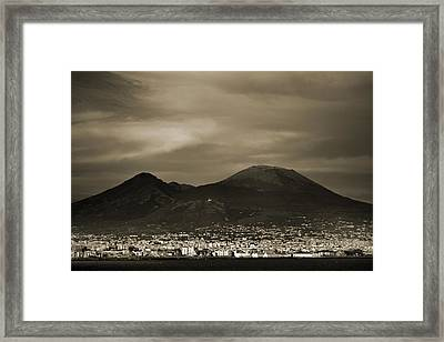 Mount Vesuvius 2012 Ad Framed Print by Terence Davis