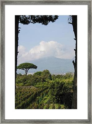 Mount Vesuvius Framed Print by Adam Romanowicz