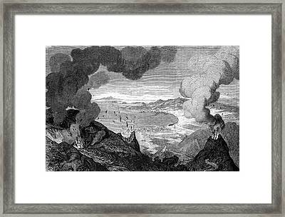 Mount Vesuvius Erupting Framed Print