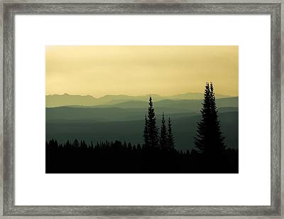 Mount Washburn Mist Framed Print